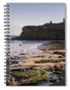Tynemouth Priory And Castle Across King Edwards Bay Spiral Notebook