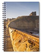 Tynemouth Priory And Castle From North Pier Spiral Notebook
