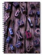 Typesetting Blocks Spiral Notebook