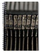 Typewriter Spiral Notebook