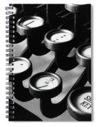 Typewriter Keys, 1921 Spiral Notebook