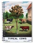Typical Cows  Spiral Notebook