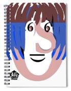 Typortraiture Ringo Starr Spiral Notebook
