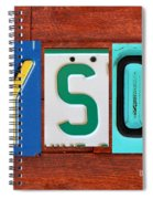 Tyson License Plate Name Sign Fun Kid Room Decor Spiral Notebook