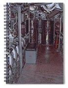 U S S Bowfin Submarine Engine Room Spiral Notebook