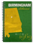 Uab University Of Alabama At Birmingham Blazers College Town State Map Poster Series No 009  Spiral Notebook