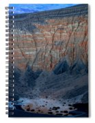 Ubehebe Crater Twilight Death Valley National Park Spiral Notebook