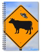 Ufo Cattle Crossing Sign In New Mexico Spiral Notebook