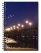 Ufo's Over Oceanside Pier Spiral Notebook