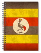 Uganda Flag Vintage Distressed Finish Spiral Notebook