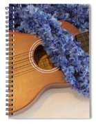 Ukulele And Blue Ribbon Lei Spiral Notebook