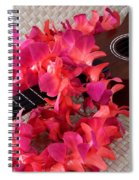 Ukulele And Red Lei Spiral Notebook
