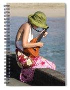 Ukulele Lady At Hanalei Bay Spiral Notebook