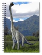 Ultrasaurus In Meadow Spiral Notebook