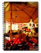 Umbrella Fruitstand - Autumn Bounty Spiral Notebook