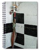 Umbrella In The Corner Spiral Notebook