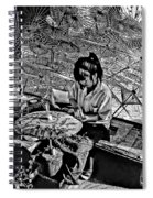 Umbrella Maker Bw Spiral Notebook