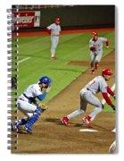 Umbrella Man At Royals Baseball Spiral Notebook