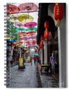 Umbrella Street Spiral Notebook