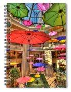 Umbrellas At Palazzo Shops Spiral Notebook