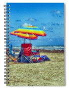Umbrellas At The Beach Spiral Notebook