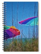 Umbrellas On Sanibel Island Beach Spiral Notebook