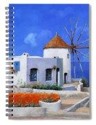 un mulino in Grecia Spiral Notebook