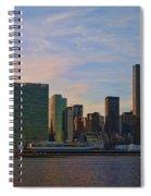 Un Sunset Spiral Notebook