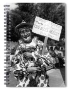 Uncle Harry Clown Drive Carefully  God Bless America Sign Tucson Arizona 1991 Spiral Notebook