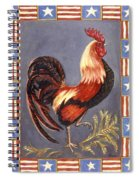 Uncle Sam The Rooster Spiral Notebook