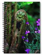 Uncurling Fern And Flower Spiral Notebook