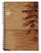 Under Moonlight Original Coffee Painting Spiral Notebook