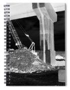 Under Pass Bw Iv Spiral Notebook