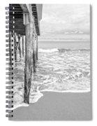 Under The Boardwalk Black And White Spiral Notebook