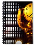 Under The Famous Clock Spiral Notebook