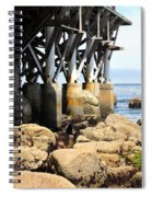 Under The Steinbeck Plaza Overlooking Monterey Bay On Monterey Cannery Row California 5d25050 Spiral Notebook