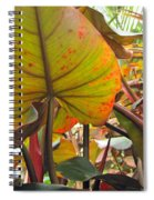 Under The Tropical Leaves Spiral Notebook