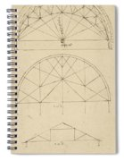 Underdrawing For Building Temporary Arch Spiral Notebook