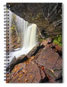 Underneath The B Reynolds Waterfall Spiral Notebook