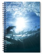 Surfing Into The Eye Spiral Notebook