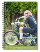 Uneasy Rider Spiral Notebook