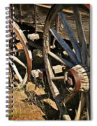 Unequal Wheels Spiral Notebook