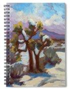 Unexpected Snowfall At Joshua Tree Spiral Notebook