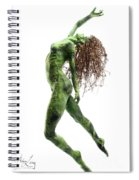 Unfurled Side View Detail Spiral Notebook