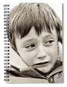 Unhappy Boy Spiral Notebook
