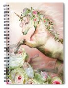 Unicorn And A Rose Spiral Notebook