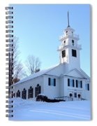Union Meeting House In West Newbury Vermont Spiral Notebook