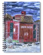 Union Pacific Train Car Painting Spiral Notebook