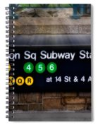 Union Square Subway Station Spiral Notebook