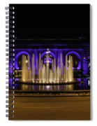 Union Station In Blue Spiral Notebook